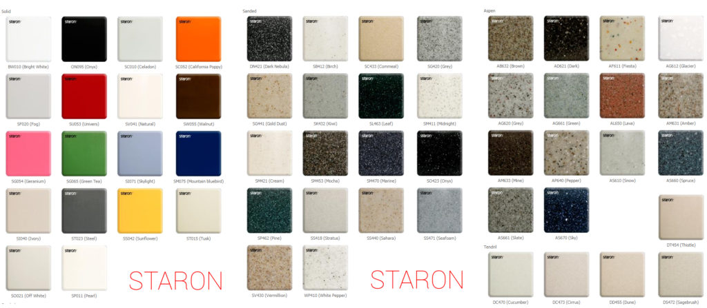 Столешницы Samsung Staron